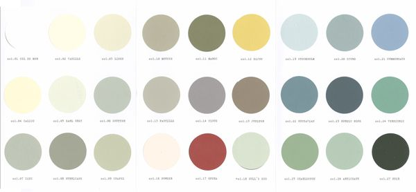 Pin By Graham Mary Beth Denny On Homey Vintage Paint Colors Paint Color Chart Painting