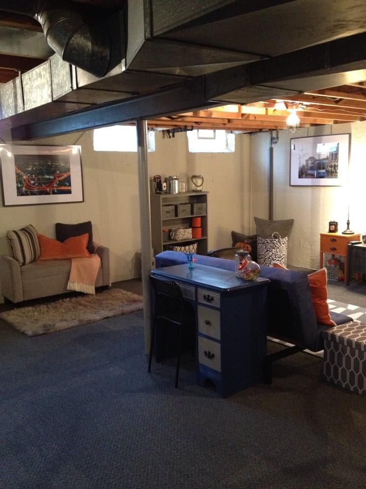Our Industrial Loft Style Basement Decorating Damsel