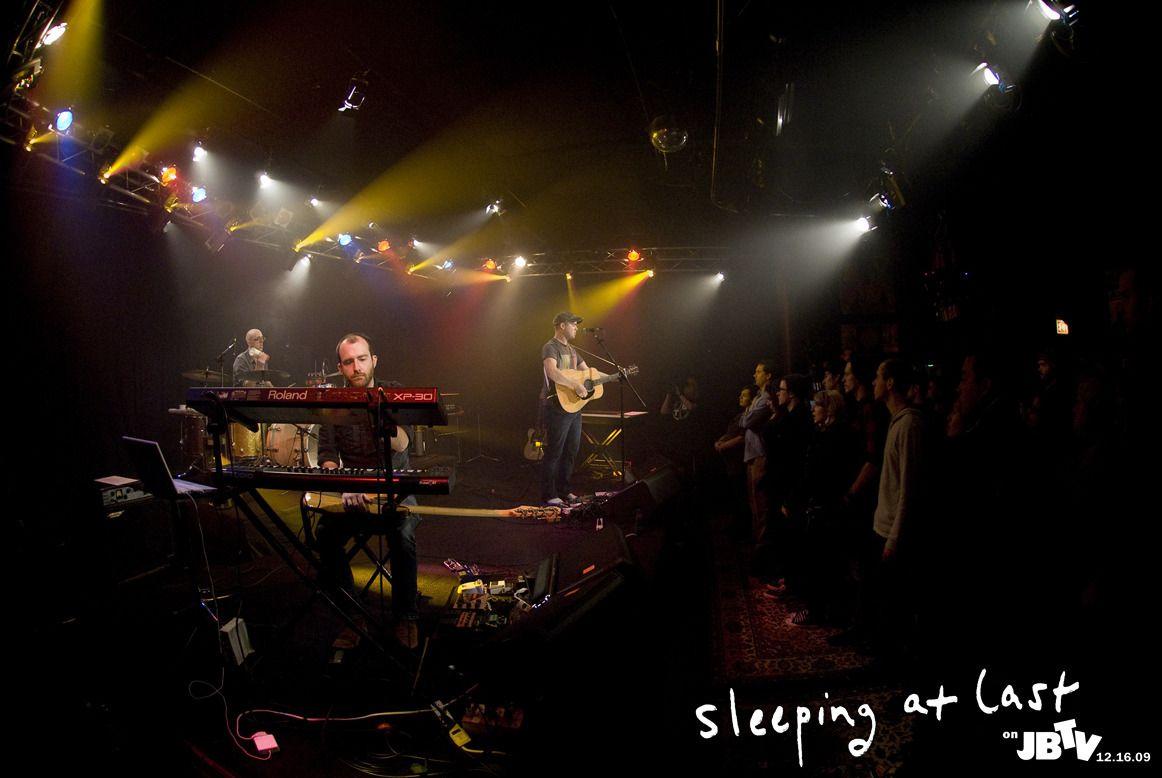SLEEPING AT LAST on stage
