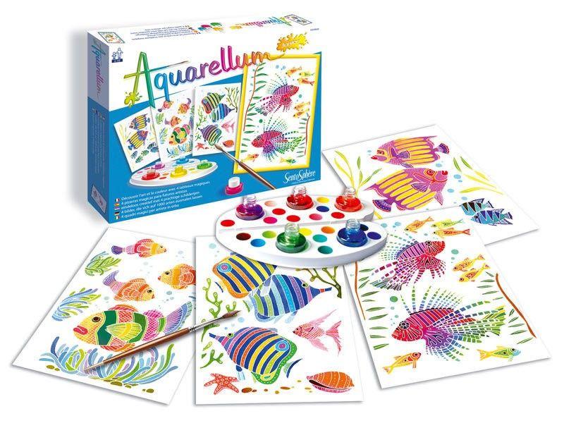 SentoSphere Kreativset Malset Aquarellum Junior Aquarium Fische für ...