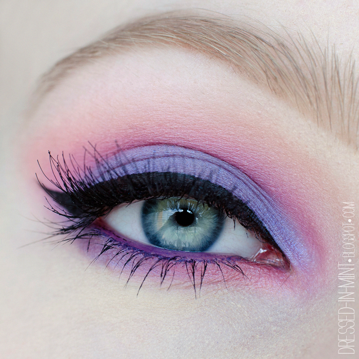 Make up. Purple in Pink / step by step