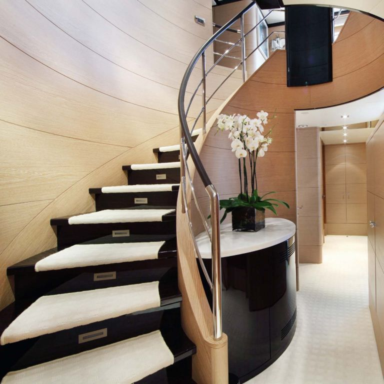 staircases | Luxury Yacht Charter Motor Yacht Interior Stairs ...