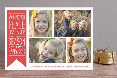 Wish Banner Holiday Postcards by The Social Type at minted.com