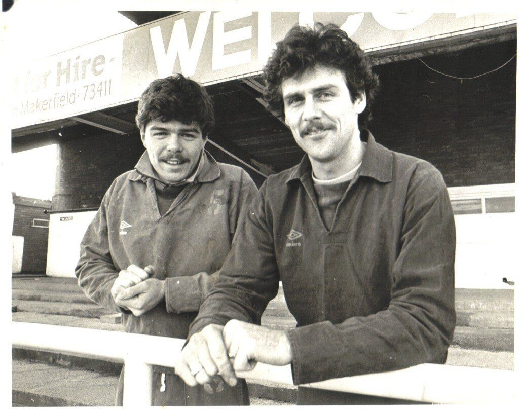 Mick Quinn And Peter Houghton Wigan Athletic Wigan Quinn