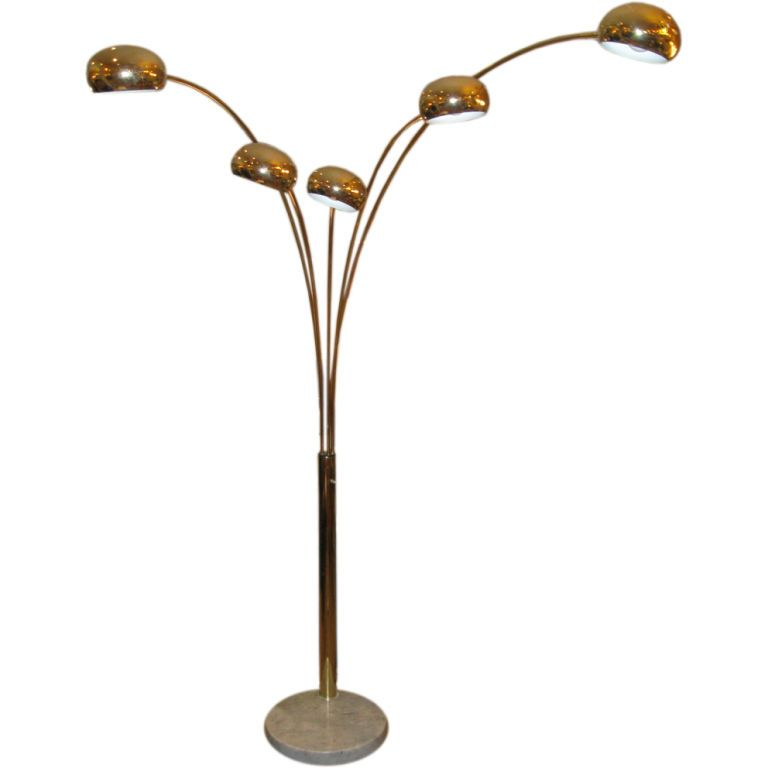 Brass standing arc lamp with marble base marbles floor lamp and arms brass standing arc lamp with marble base mozeypictures Image collections