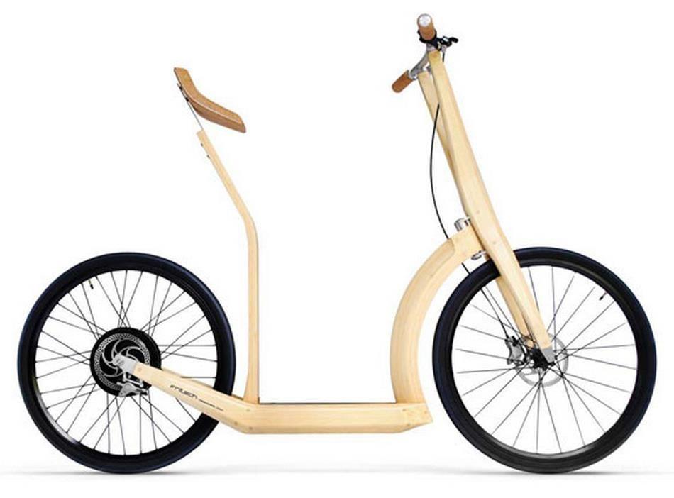 Bamboo laminated Electric bike