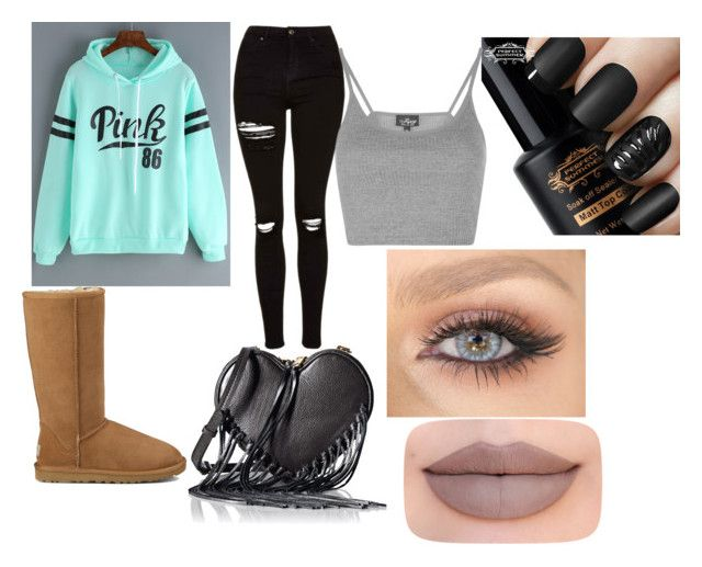 """""""Quotev 3"""" by jessicamooney04 on Polyvore featuring Topshop, UGG Australia, Rebecca Minkoff and Jeffree Star"""