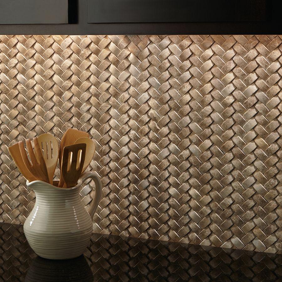 Shop American Olean Delfino Stone Emperador Natural Mosaic