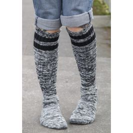 Top-striped Marled Slouch Socks