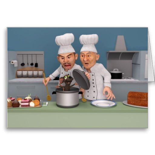 Too Many Cooks 2 Greeting Card Featuring Two Cooks Chefs