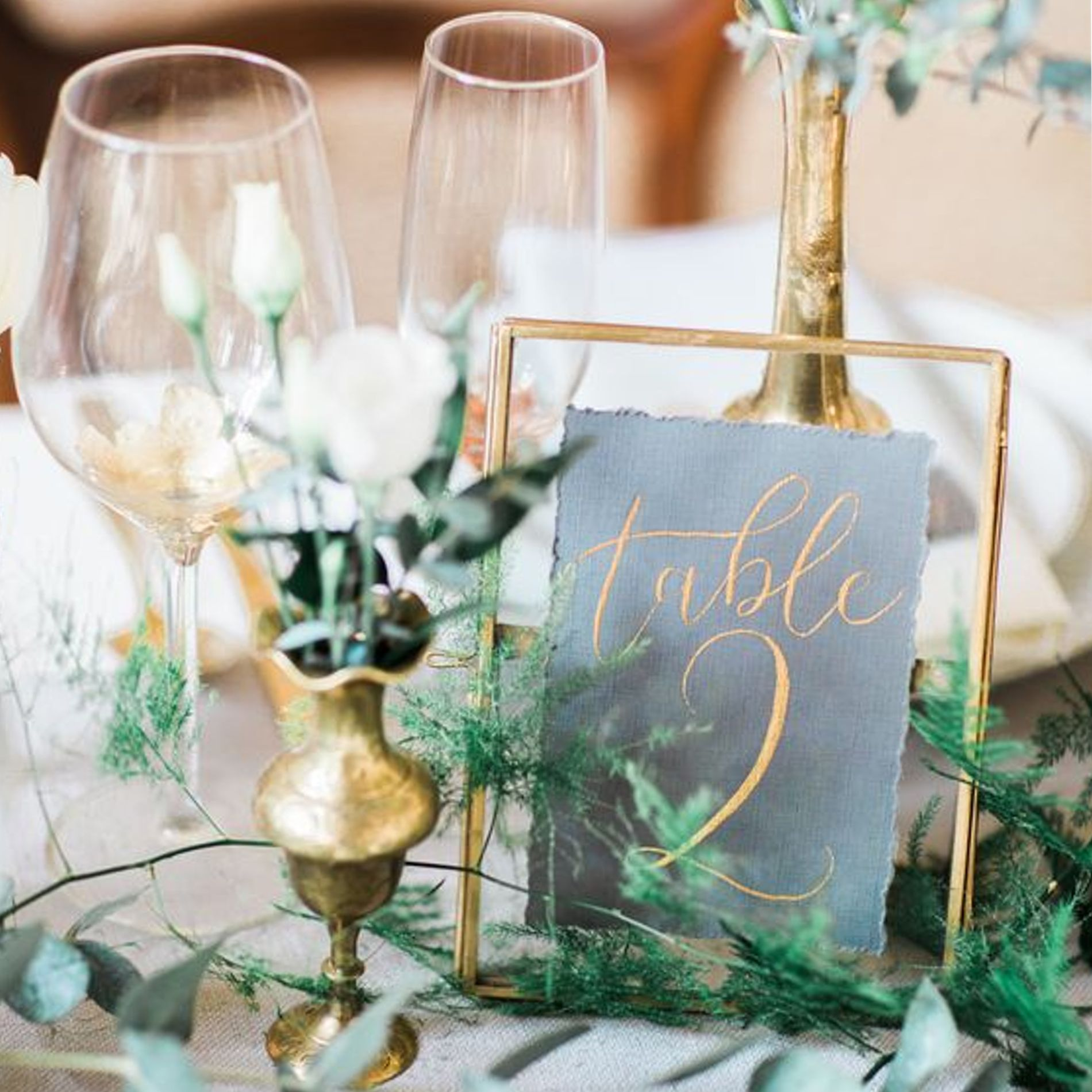 Rustic Door Wedding Ideas: Rustic Vintage Metal Gold See-through Glass Picture Frame