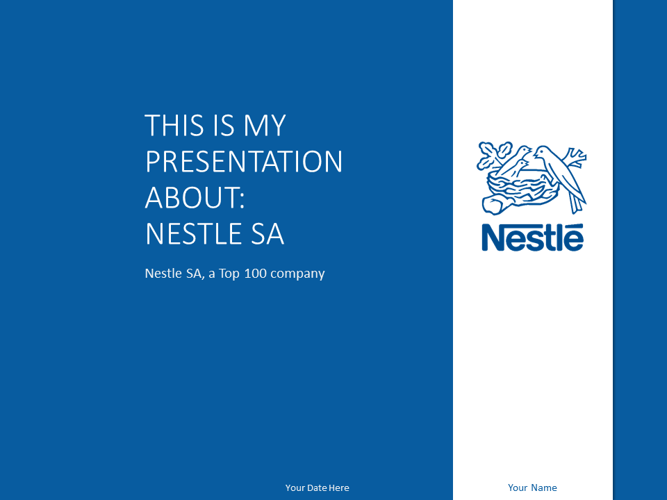 Nestl powerpoint template blue presentationgo wellness free nestl powerpoint template with blue and white colors use this free clean nestl template toneelgroepblik Gallery