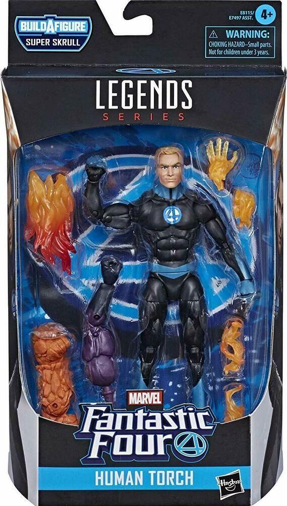 """Human Torch Marvel Legends Fantastic Four 6"""" Action Figure BAF Super Skrull"""
