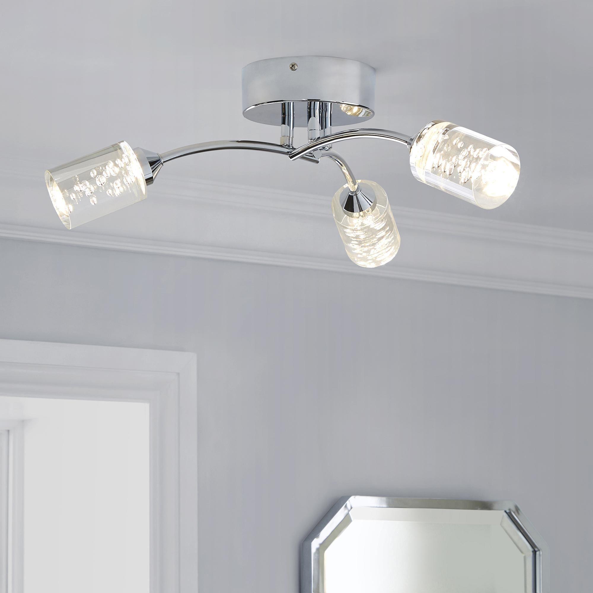 Dunelm Silver Tillson Bathroom Led
