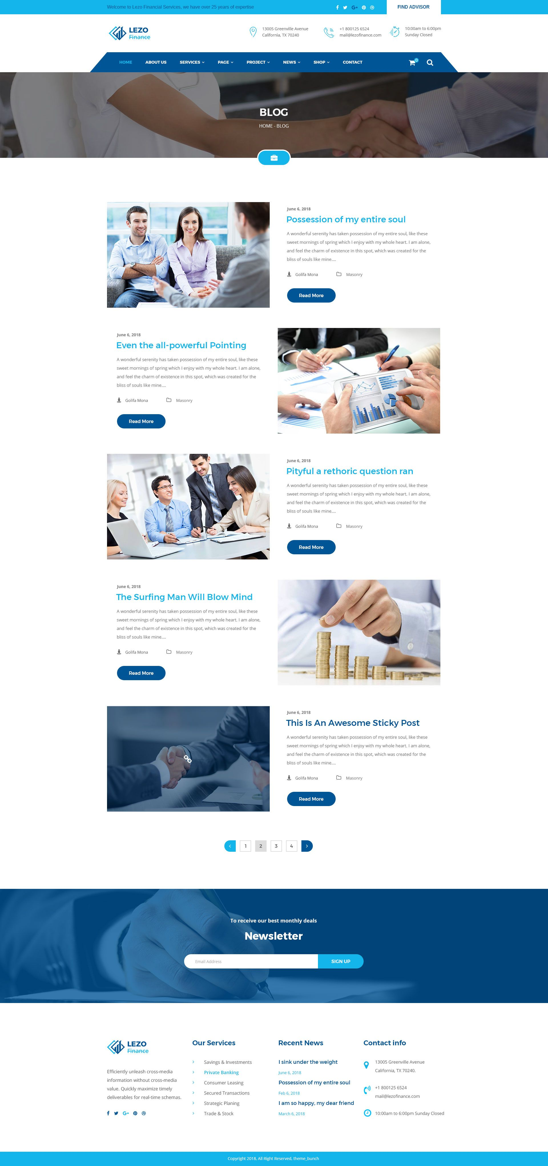 Lezo Business Finance Consulting Psd Template Business Finance Finance Psd Templates