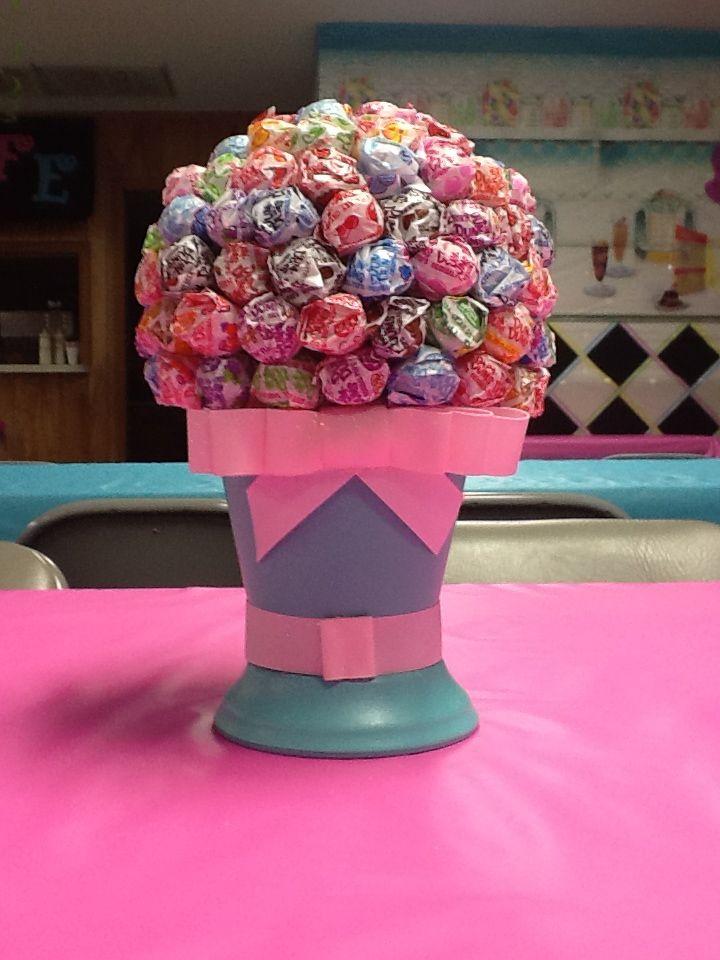Lollipop topiary centerpiece cute decorations party