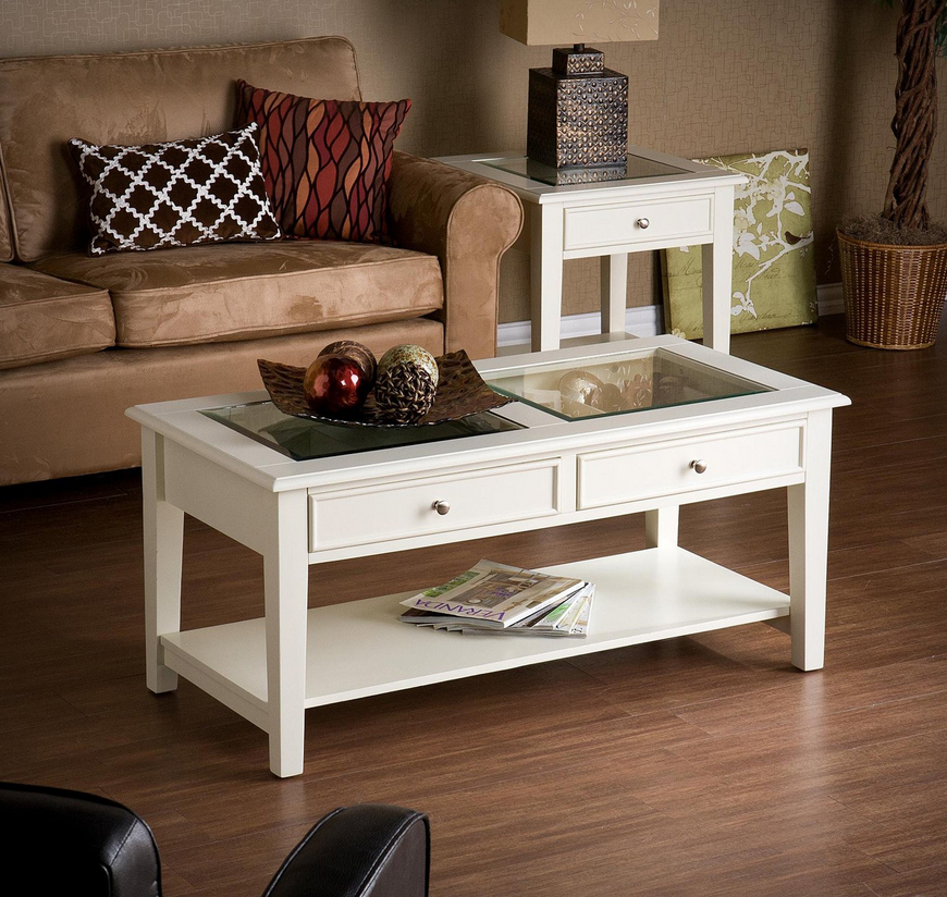 Glass Top Coffee Table With Storage 9