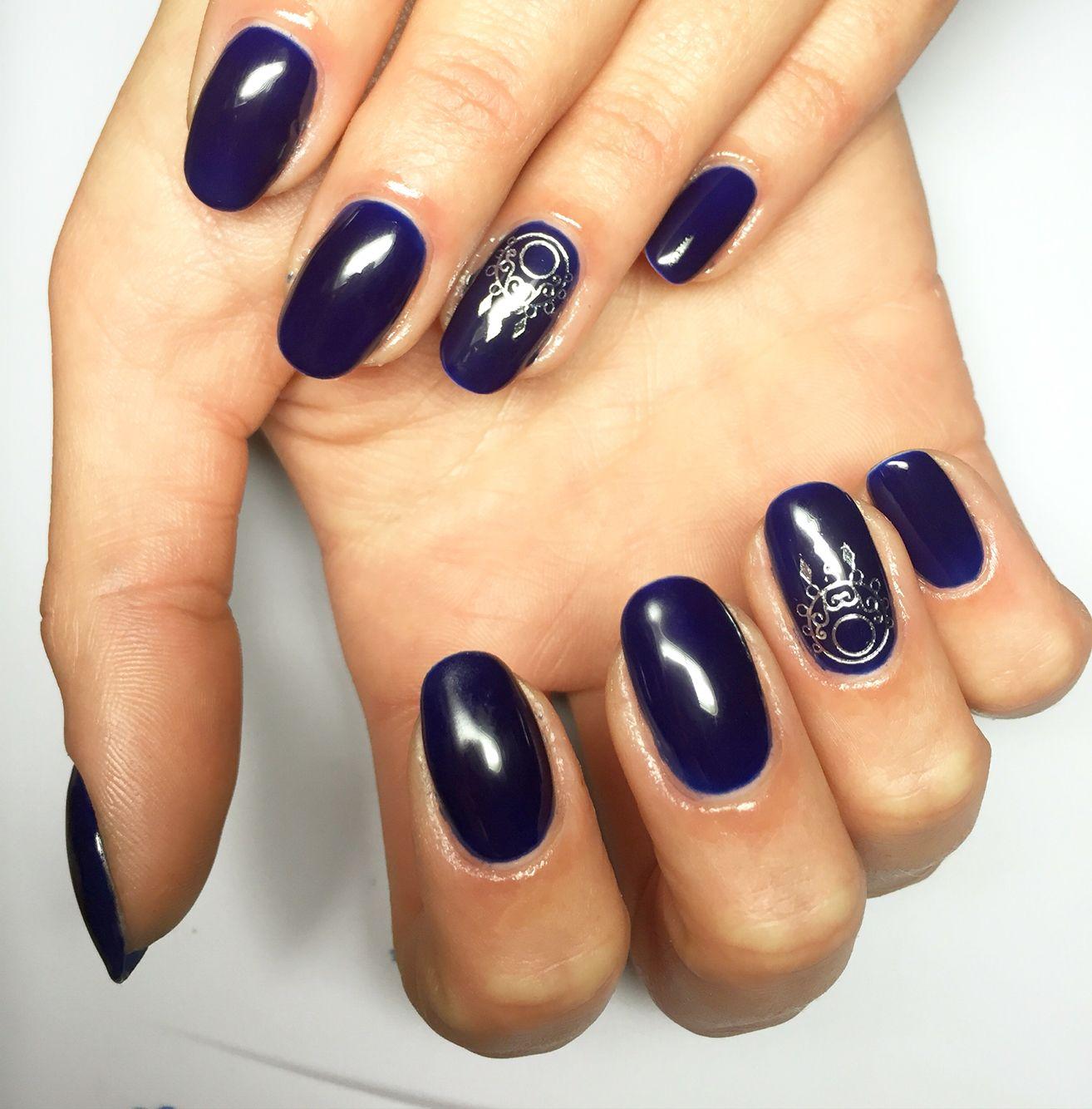 dark #blue #gel #nails | Gel Nails | Pinterest | Blue gel nails and ...