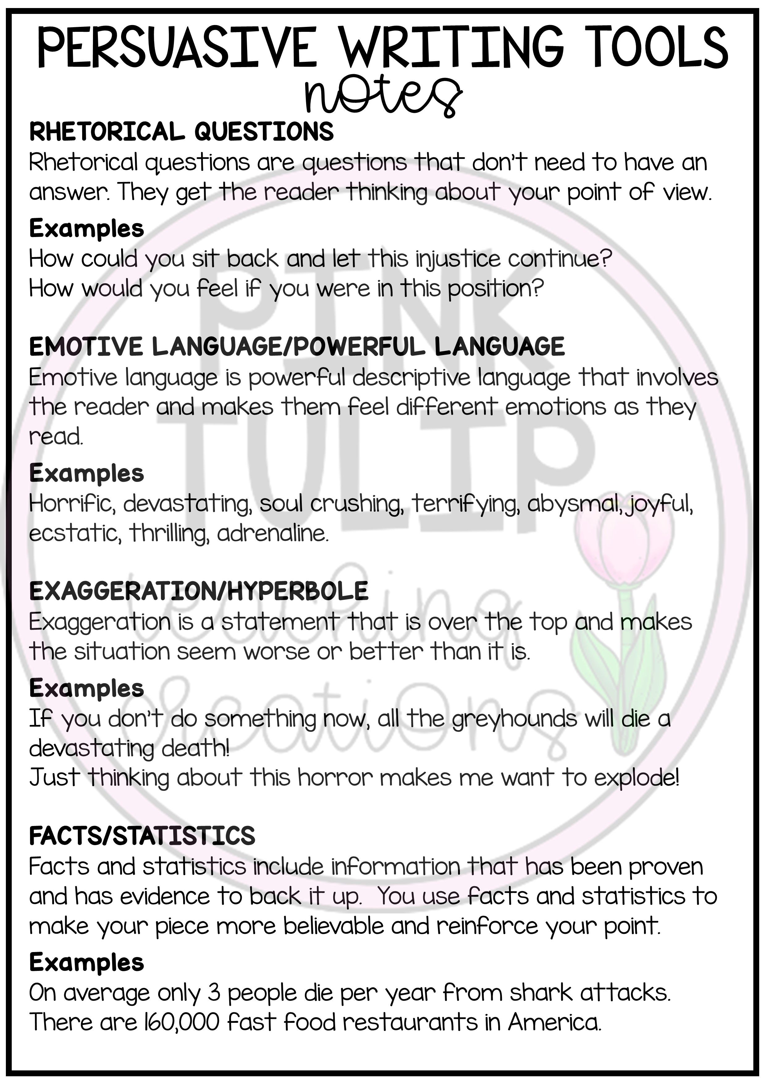 Persuasive Writing Worksheet Pack