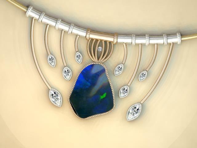 Eye-Catching Opal Necklace / J Bennett Ragan Custom Designs #opal #pendant #necklace
