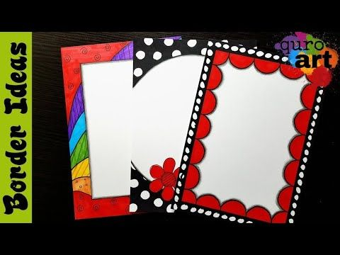 Britto border designs on paper project work borders for also youtube margenes para cuadernos rh co pinterest