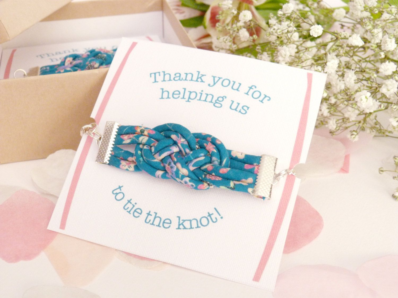 Bridesmaid Gift Jewelry - Liberty Print Bracelets - Handmade Wedding ...