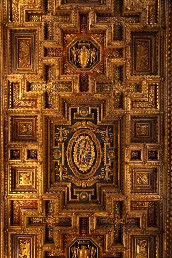 Roof Of Santa Maria Aracoeli Rome Italy Rome Italy Ceiling Design