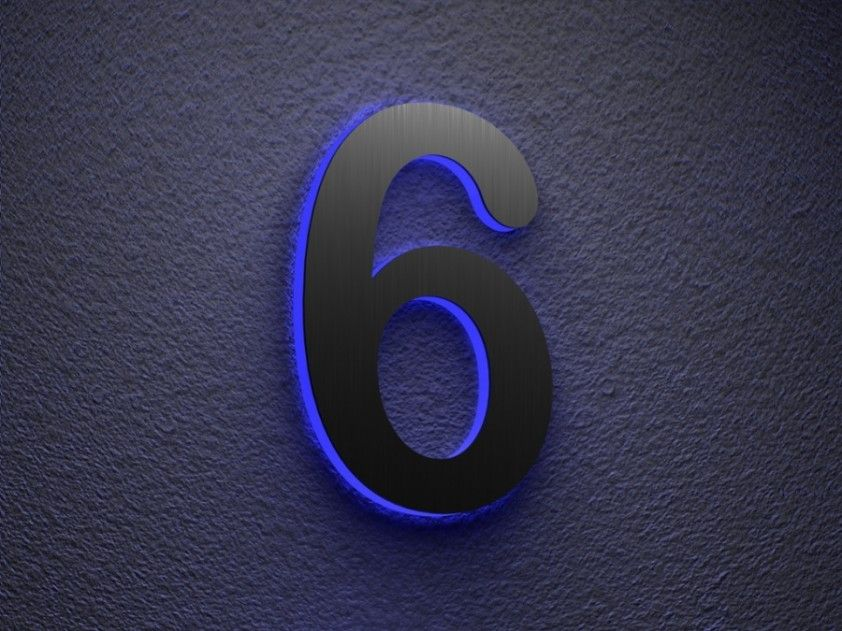 Illuminated House Numbers To Coloring Your House Illuminated