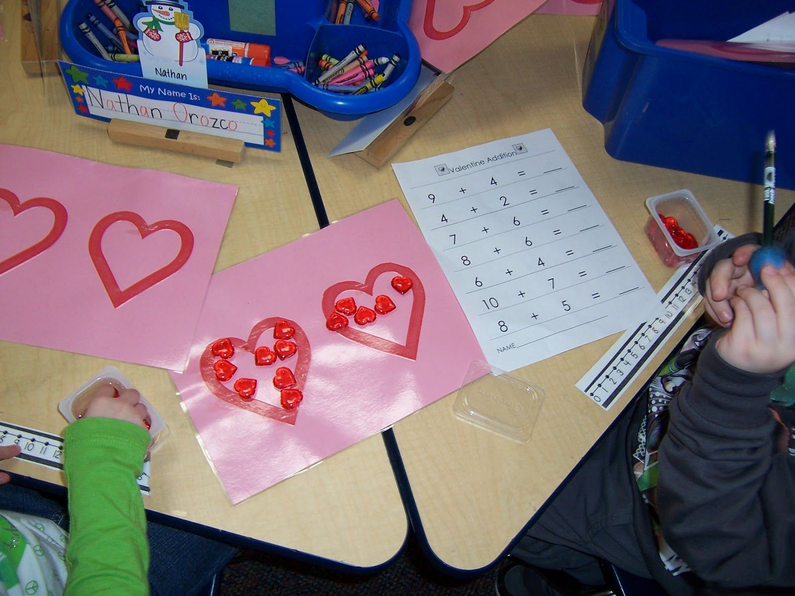 Valentine S Day Math Center Could Have Them Write