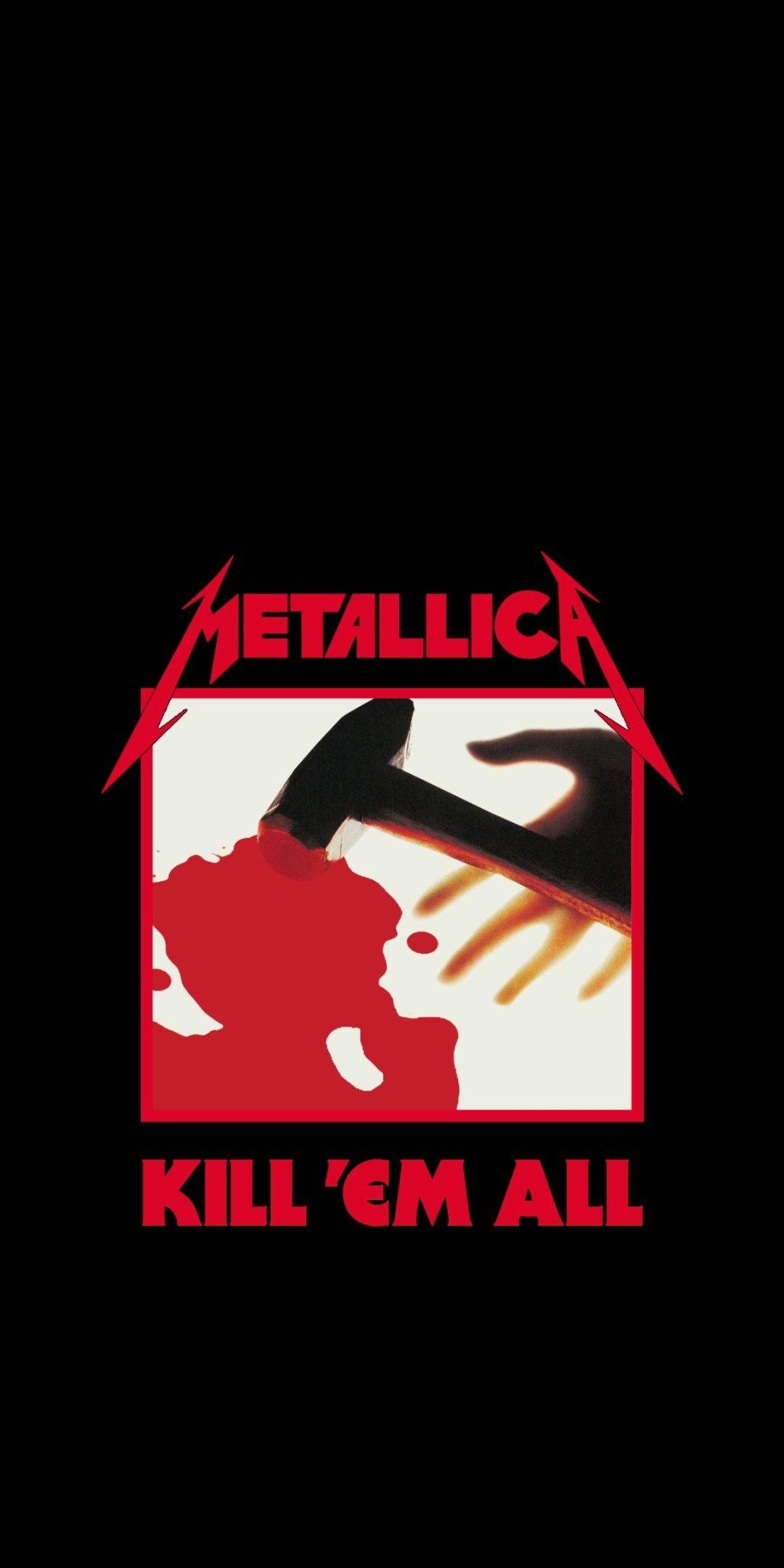 Metallica kill en all wallpaper fondo iPhone Carteles de