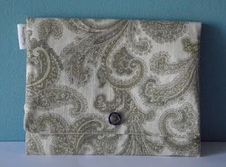 Fussy Cutting Paisley Clutch
