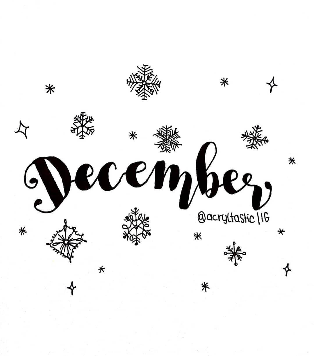 Hello December Hellodecember Lettering Handlettering Art
