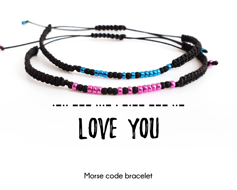 Love You Morse Code Bracelet Mens Bracelet Unisex Bracelet Friendship Bracelet Anniversary Gift Gifts For Boyfriend Morse Code Bracelet Boyfriend Gifts Bracelets For Boyfriend