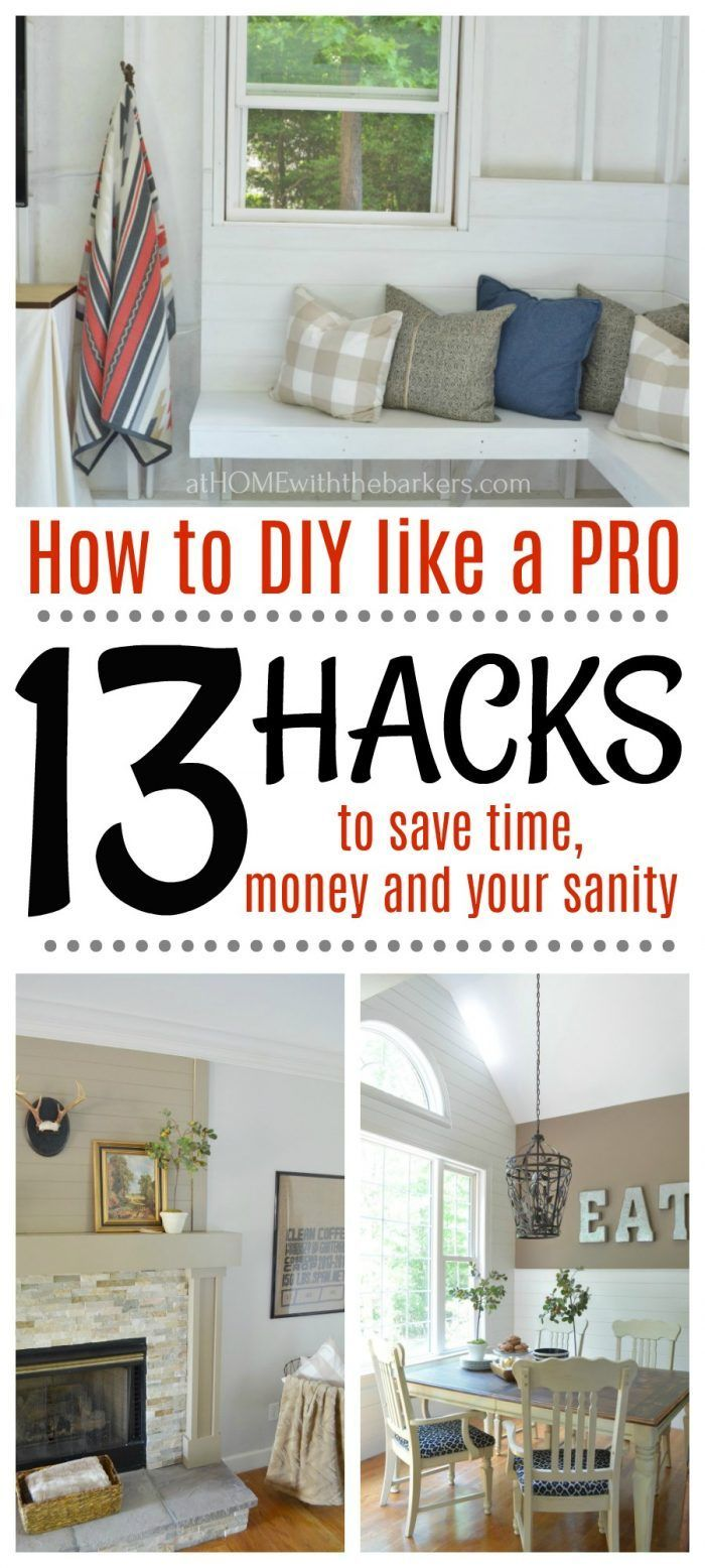 How to DIY like a Pro: 13 DIY Facts you need to know to save time, money and your sanity. #diy #diyhomedecor #doityourself #athomewiththebarkers