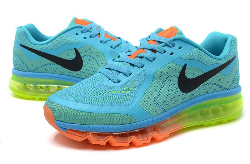 Nike Air Max 2014 Mens Blue Green Orange | Nike shoes outlet