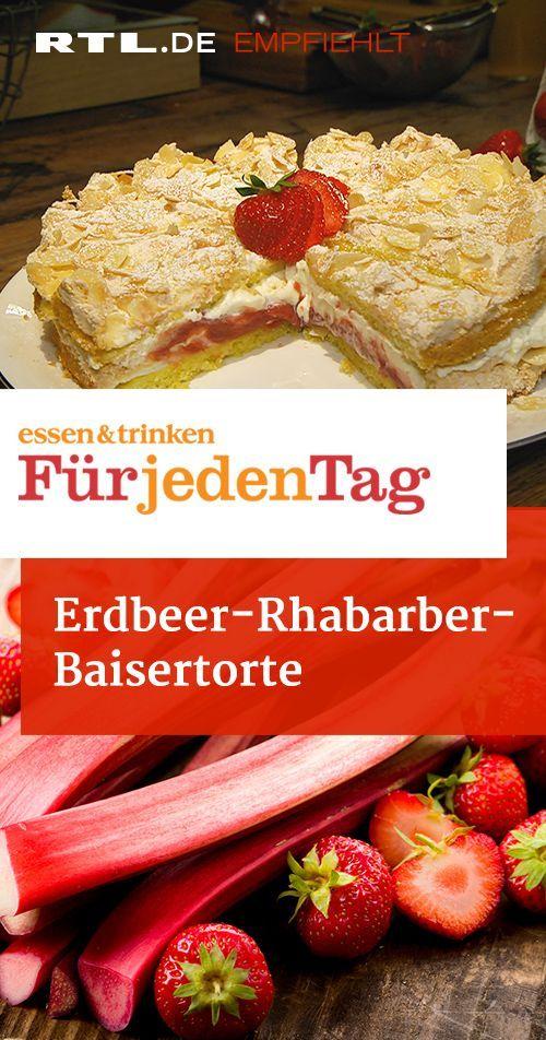 Erdbeer-Rhabarber-Baisertorte – das Rezept aus essen & trinken – Für jeden Tag
