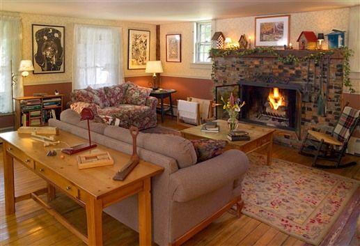 Ornate Fireplace At October Country Inn Bridgewater Corners
