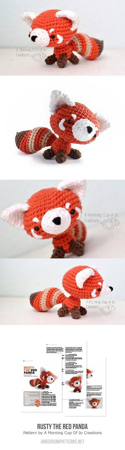 Rusty the Red Panda amigurumi pattern by A Morning Cup of Jo ...