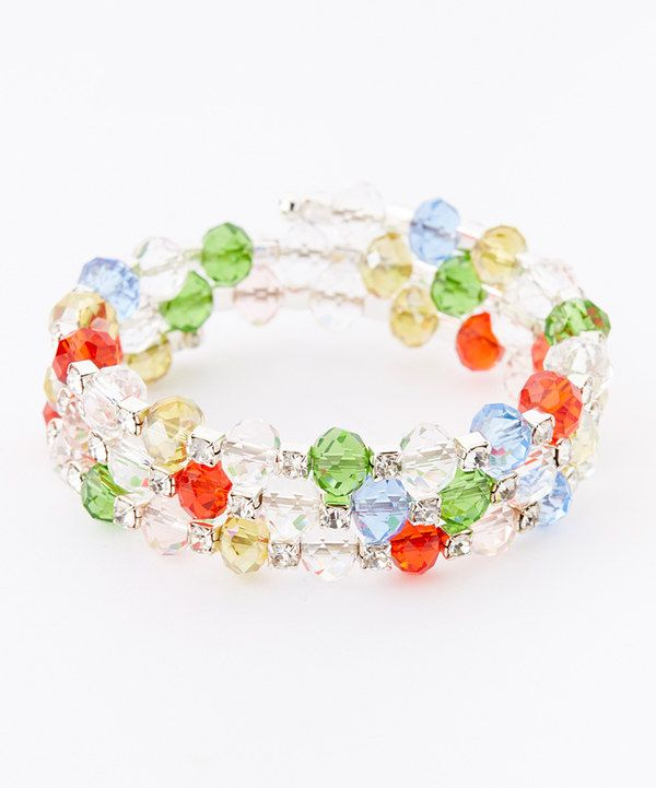 Look at this Red & Green Beaded Coil Bracelet on #zulily today!