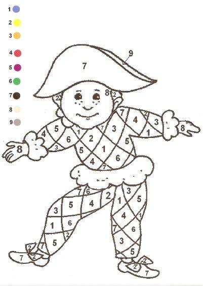 Coloriage Pantin Arlequin.Coloriage Arlequin A Colorier Dessin A Imprimer Resources Ecole