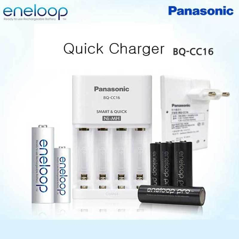 Panasonic Bq Cc16 Ni Mh Aa Aaa Rechargeable Battery Eneloop 4 Quick Charger Rechargeable Batteries Portable Battery Bank Battery Lights