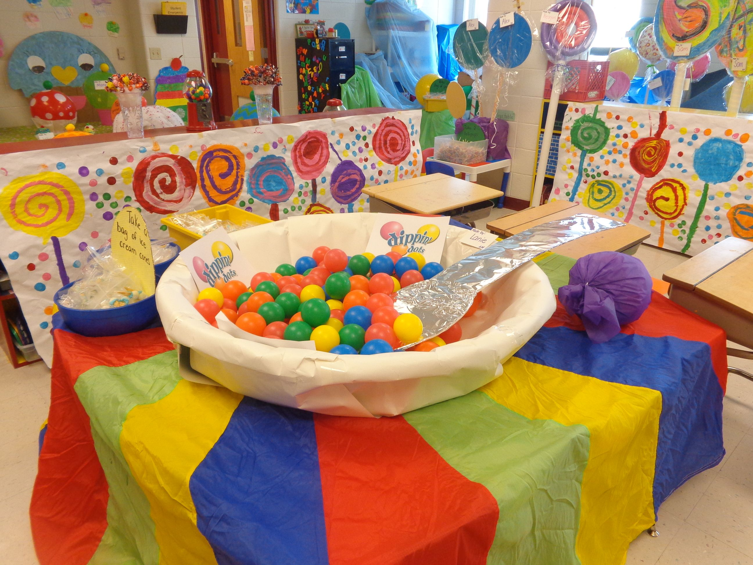 Life Sized Candyland Game Bowl Of Ice Cream And Spoon