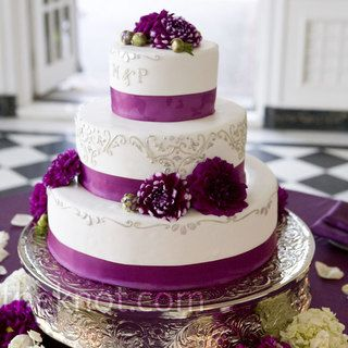 Wedding Cakes Wedding Cake Purple Wedding Cakes And Purple Wedding - Weddings Cake Pictures