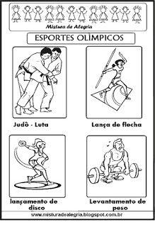 esportes olímpicos para colorir educação pinte