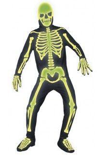 Squelette homme halloween fluo homme Déguisements Déguisement PEFd1qwP