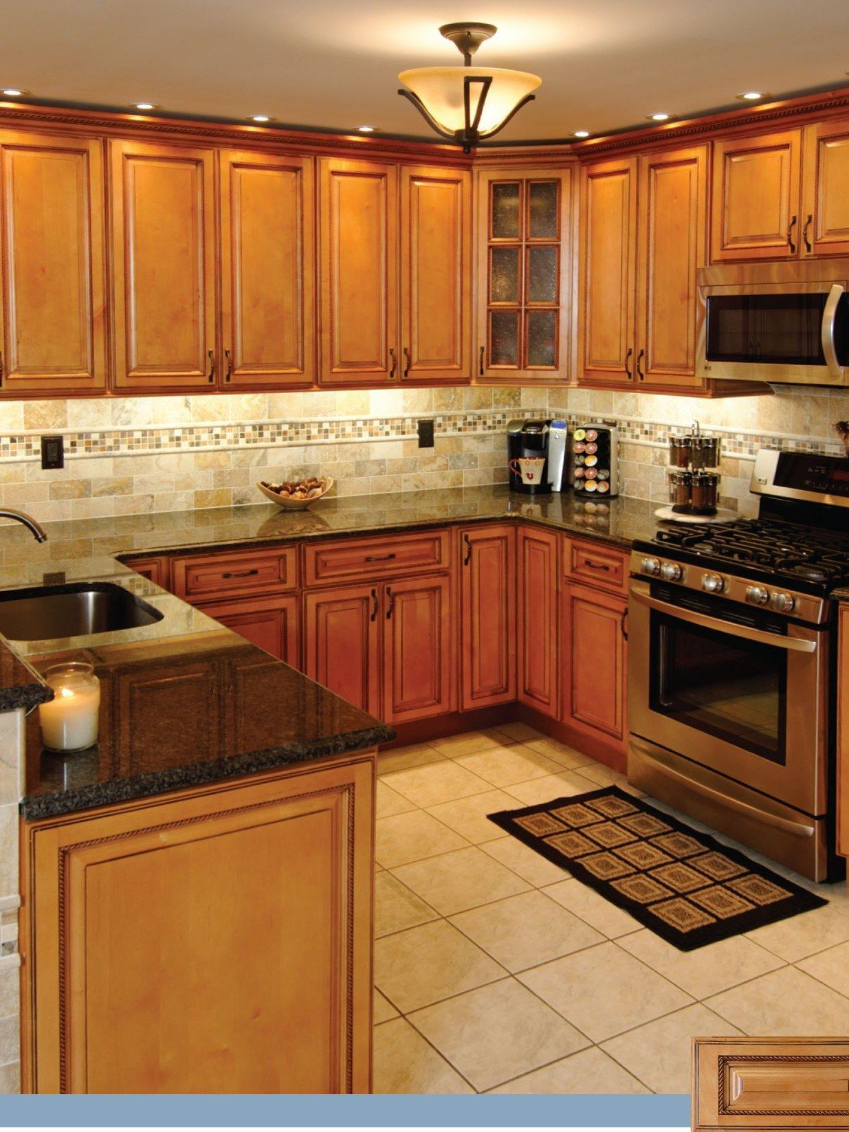 Is honey oak coming back? Wooden kitchen cabinet makeover. #honeyoakcabinets