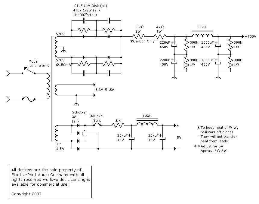 Electra-Print com 300B DRD Audio Tube Amplifier | Schemy v