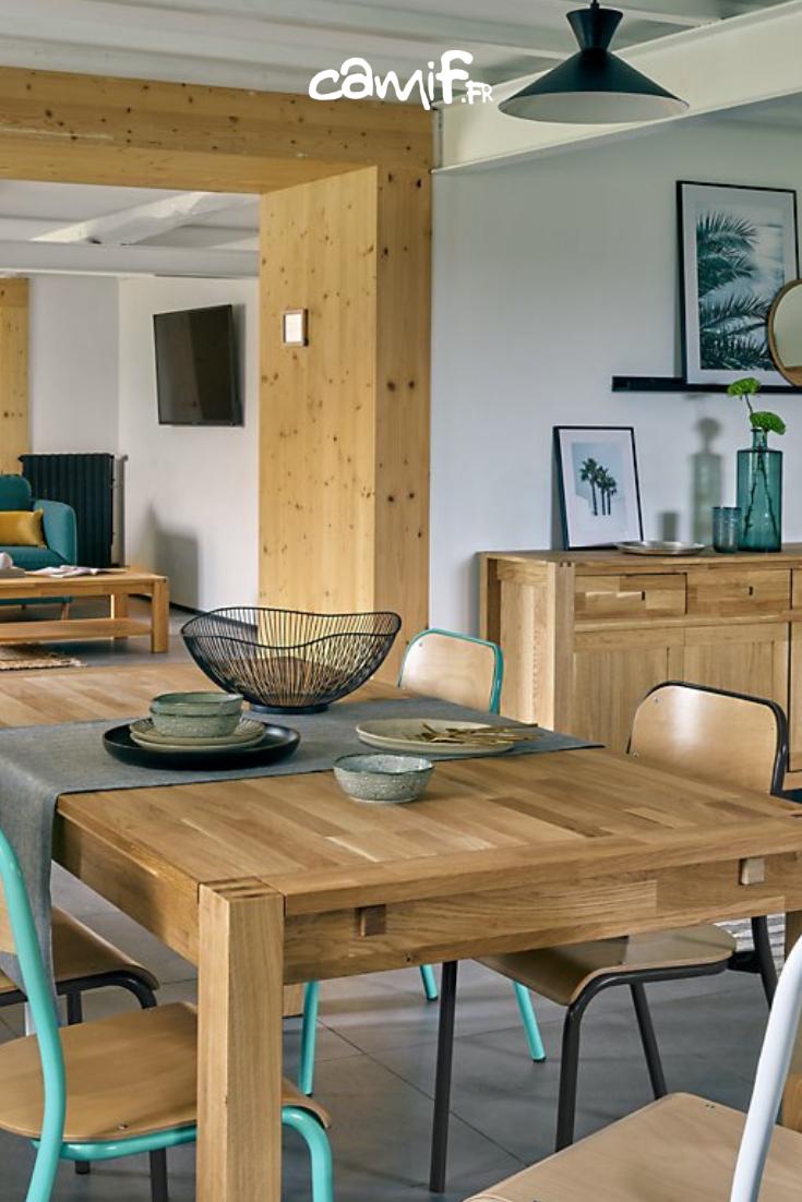 Table Pliante Contre Mur table de #repas rectangulaire luminescence, en #chêne massif