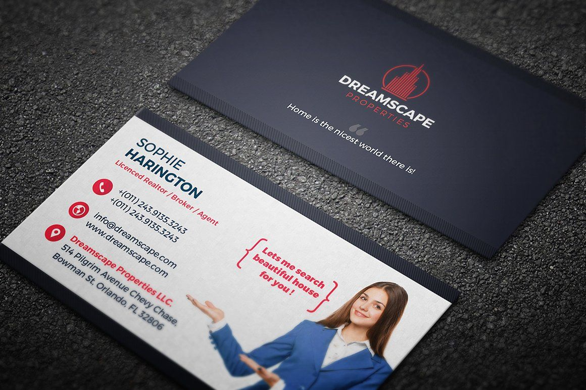 real estate business card in 2020  real estate business