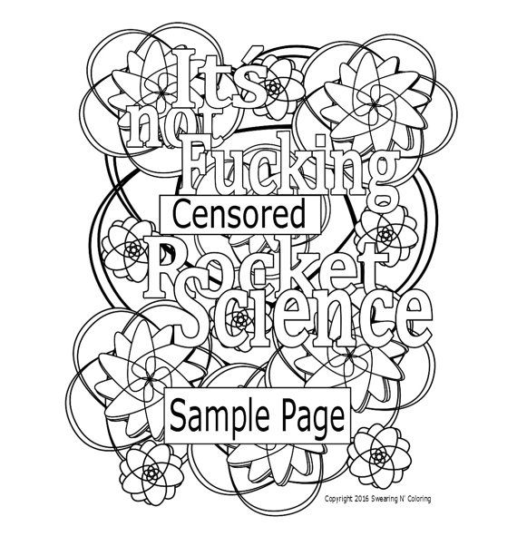 Swear Word Coloring Page Its Not Fucking By SwearingAndColoring Adult ColoringColoring PagesColoring BooksColouring